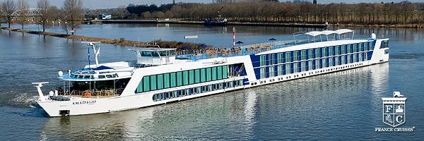 France Cruises AmaDagio in France at dusk
