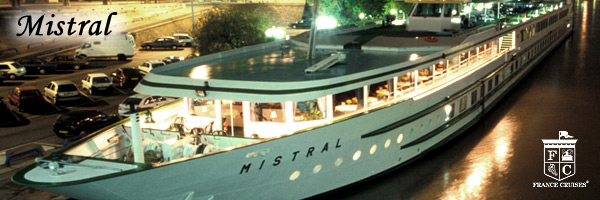 MS Mistral in the evening by France Cruises