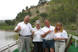 Emma hotel barge crew