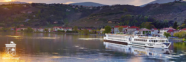 France Cruises River Royale in France at dusk