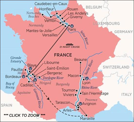France Cruises Ultimate France Map