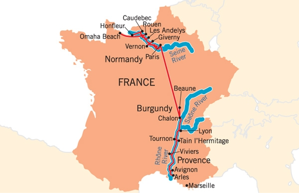 Deluxe French River Boat Cruises by France Cruises Luxury Uniworld