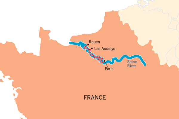 Deluxe French River Boat Cruises By France Cruises Luxury - World map seine river