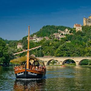 Gabarre sur la Dordogne